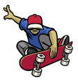 sakter in action playing his skateboard vector image vector image