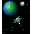 Satellite in space vector image vector image