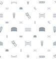 seamless icons pattern white background vector image vector image