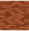 Seamless Pattern of Red Brick vector image vector image
