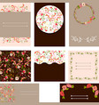 set of beautiful templates for wedding cards vector image vector image