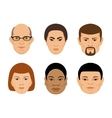 set of human faces different age and ethnicity vector image vector image
