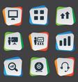 set of simple seminar icons vector image vector image