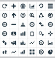 set of simple statistic icons vector image vector image