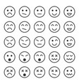 simple emotion icons in trendy flat style vector image