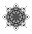 sketch abstract black hexagon mandala vector image vector image
