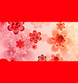 spring banner of colorful flowers vector image