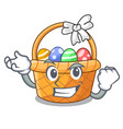 successful easter basket isolated in the character vector image