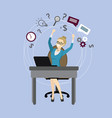 successful office worker or business woman vector image vector image