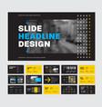 template black slides for presentation vector image