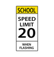 usa traffic road sign school speed limit vector image vector image