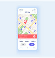 wifi map smartphone interface template vector image