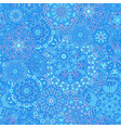 winter snowflakes damask flower seamless pattern vector image vector image