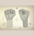 wireframe fist vector image