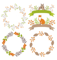 Woodland Wreath And Ribbons vector image vector image