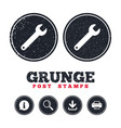 Wrench key sign icon service tool symbol