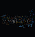 yoga as a form of weight loss text background vector image vector image