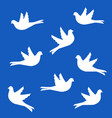 birds silhouettes flying pigeons vector image
