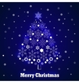 Christmas tree snowflakes vector image