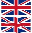 Flat and waving British Flag vector image