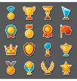 Sport or business award sticker icons set vector image