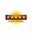5 stars icon vector image vector image