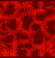 abstract burgundy seamless pattern of gears and vector image