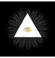 All seeing eye black vector image