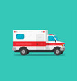 ambulance emergency car flat vector image