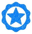 Award Star Seal Grainy Texture Icon vector image