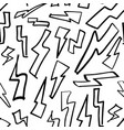 b and w electric funky lightning seamless pattern vector image vector image