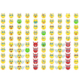 big emoticon set for you design vector image vector image