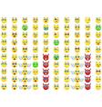 big emoticon set for you design vector image