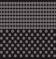 black and white seamless border pattern with stars vector image vector image