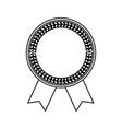 blank award ribbon vector image vector image
