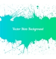 blue green ink splashes over white vector image vector image
