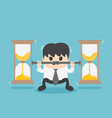 business bear the weight of the hourglass vector image vector image