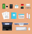 business top view finance topping stuff office vector image vector image