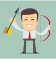 businessman with bow and arrow isolated on vector image vector image