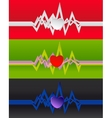 Cardiogram background vector image