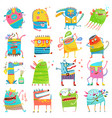 cartoon colorful monsters for kids big collection vector image vector image