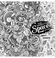 Cartoon cute doodles hand drawn space vector image vector image
