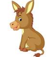 cartoon donkey vector image vector image