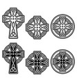 celtic irish cross design set - st patrick vector image