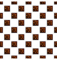 chocolate cookies pattern seamless vector image vector image