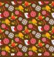 christmas seamless pattern with birds and berries vector image vector image