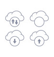 cloud download and upload icon up and down vector image