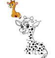 connect the number to draw the animal game giraffe vector image vector image