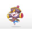 cute child in chinese zombie costume vector image vector image