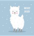 cute christmas llama vector image
